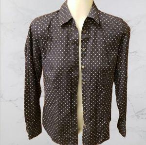 Talbots polka dot shirt 2p